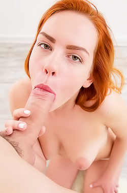 Redhead Nelya Jorden Spreading Legs And Gets Fucked